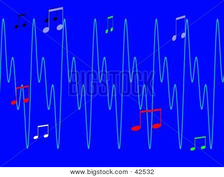 Abstract Graphic Depicting Music Sounds