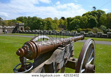 Old cannon at Culzean Castle, Ayrshire
