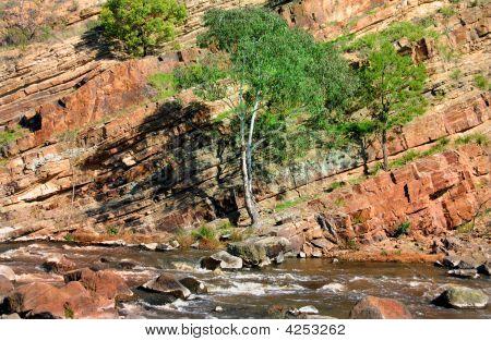 Tilted Rock Formation