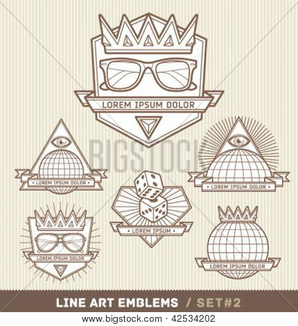 Line art labels