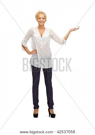picture of teenage girl with something on palm