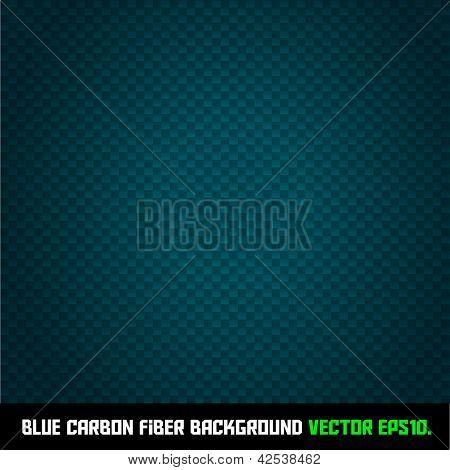 BLUE carbon fiber background VECTOR EPS10.