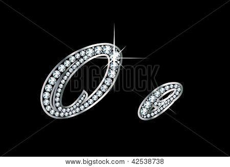 Script Diamond Bling Oo Letters