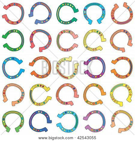 Seamless vector Colorful Cartoon Horseshoes Background