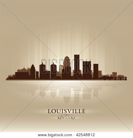 Louisville Kentucky Skyline City Silhouette