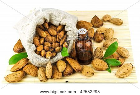 Almonds In The Sack And Almond Oil