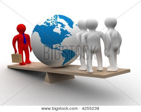 Conceptual Image Of Teamwork. 3D Image.