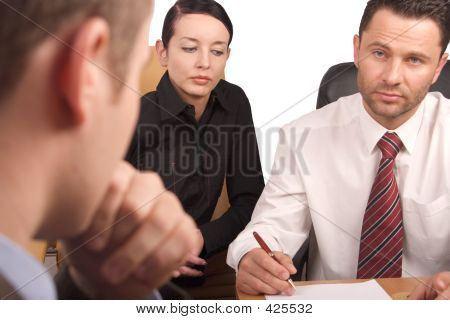Three Persons Business Meeting