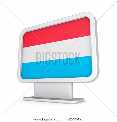 Luxembourgian flag in a lightbox.