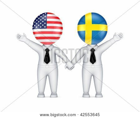 US-Swedish cooperation concept.