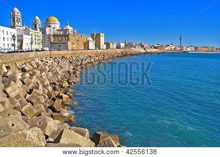 paisaje puerto de cadiz