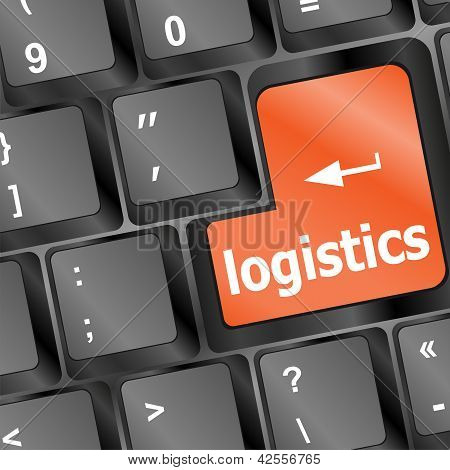Logistics Words On Laptop Keyboard