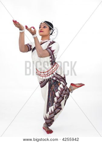 Indian Traditional Female Odissi Dancer
