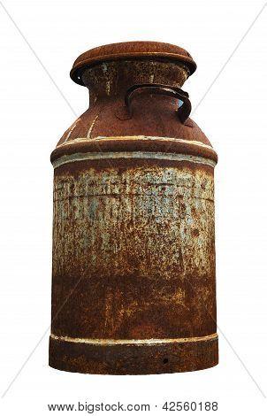 rustic old milk jug
