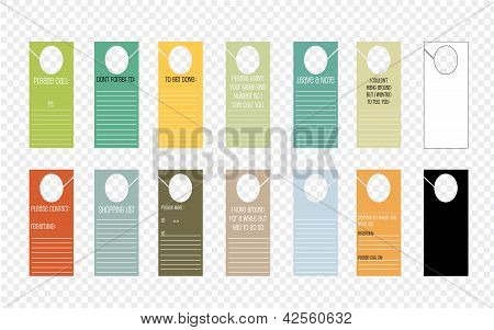 A Set Of Notepad Door Hangers With Text Space