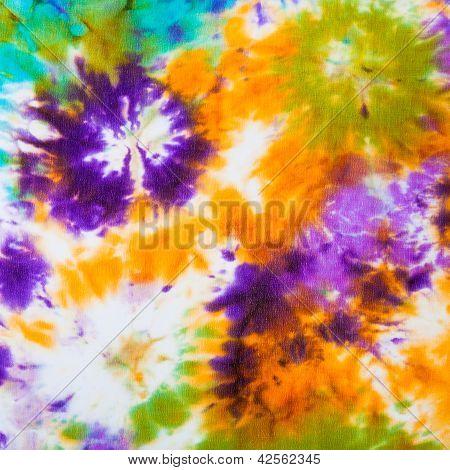 Abstract Pattern On Silk Batik