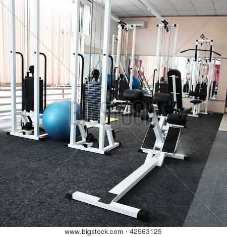 Gym apparatus in gym hall