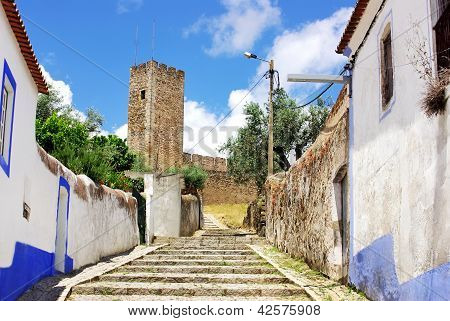 Old Street Of Arraiolos Village
