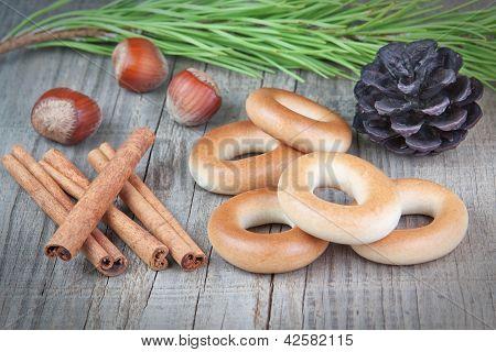 Christmas Objects Nut Bagel Sticks Canela, Hotshot.