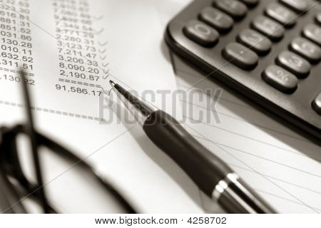 Financial Statement Spreadsheet with Calculator