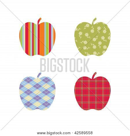 School Patterned Apples