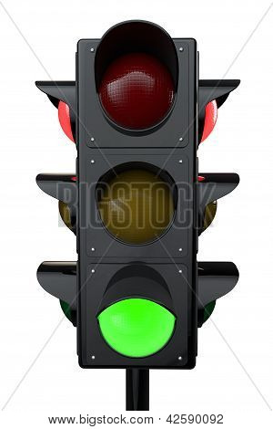 3D Render Traffic Lights