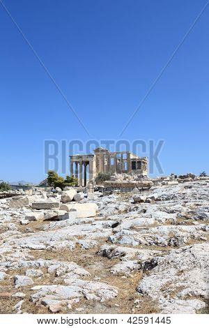 View Of Erechtheum Ancient Greek Temple