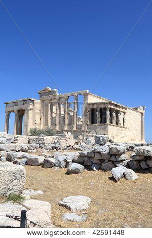 View Of Erechtheum Ancient Temple