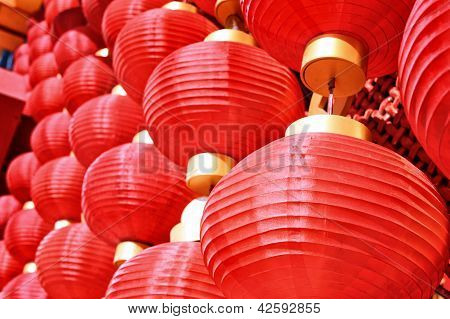 Chinese red lanterns (spring festival celebration)