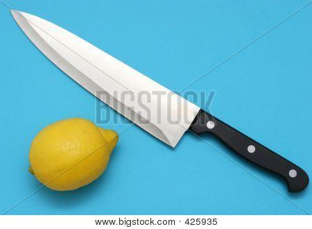 Knife And Lemon