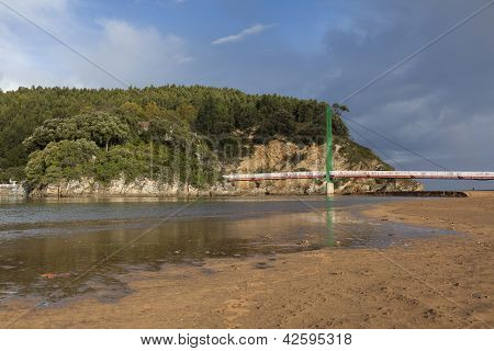 Brige Of Pobena, Muskiz, Bizkaia, Basque Country, Spain