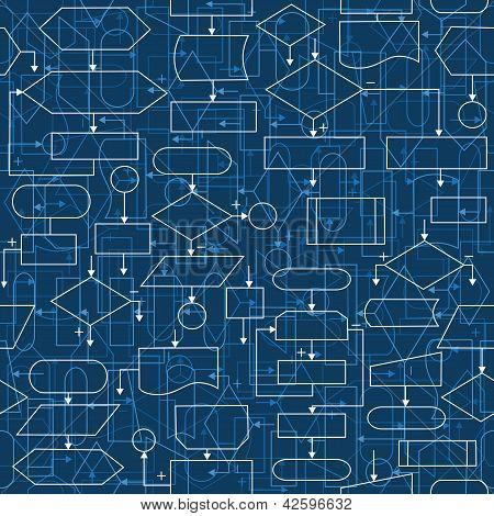 Flowchart Diagrams Background