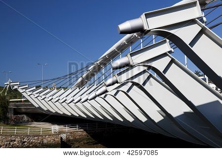 Kaiku Bridge, Barakaldo, Bizkaia, Basque Country, Spain