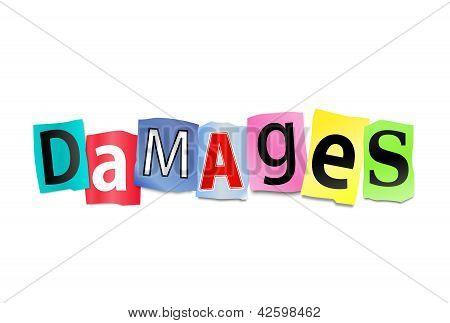 Damages Concept.