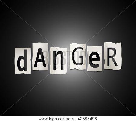 Danger Concept.