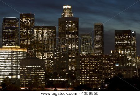 Skyline de Los Angeles à noite