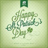 stock photo of clover  - Happy Saint Patrick - JPG