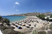 Super Paradise Beach In Mykonos Island