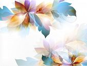 stock photo of flourish  - Abstract Floral vector graphic  illustration
