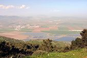 picture of field_stone  - Landscape of Gilboa hills and view of israel valley at the spring, Israel