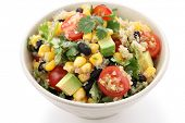image of vegetarian meal  - quinoa salad - JPG