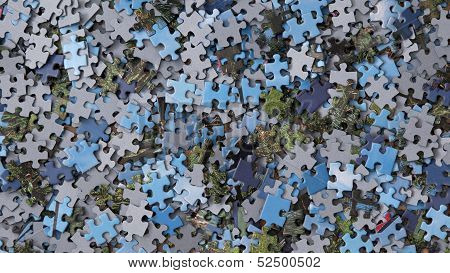 Pieces Of Jigsaw Puzzle / Background