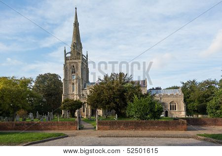 Flint Church In Woolpit Suffolk