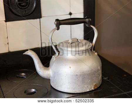 Old Fashioned Kettle On Hob