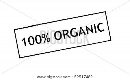 Organic stamped label