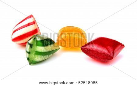 Colorful hard candies .