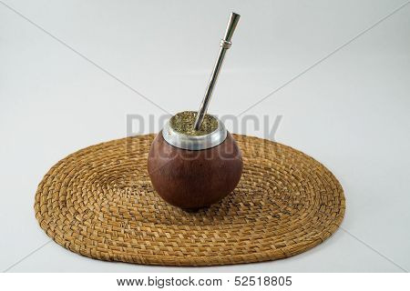 Traditional Argentinean Bevarage. Yerba Mate. Buenos Aires. South America.