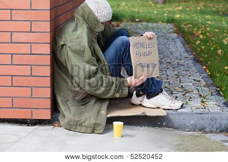 Homeless Begging For Money