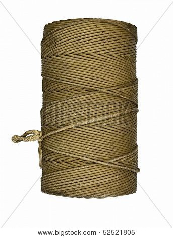 vintage mason twine line over white, clipping path