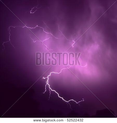 Thunderstorm Lightning In Illinois